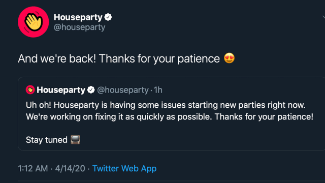 Houseparty Issue update