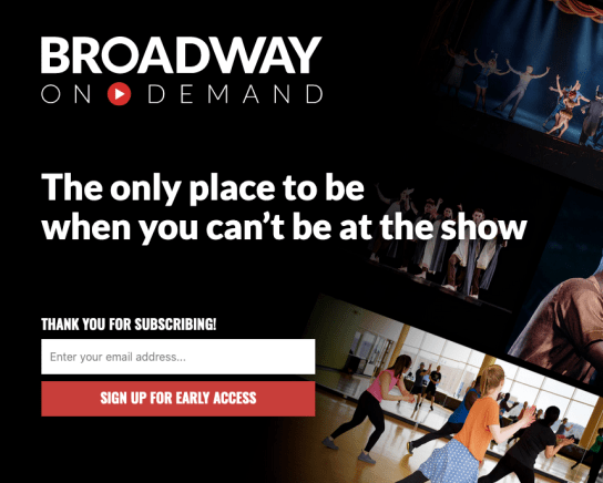 Broadway On Demand Preview