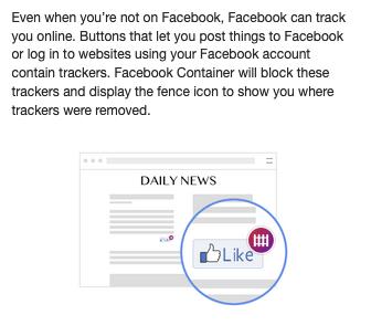 Facebook container FAQ 3
