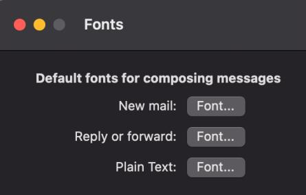 outlook mac font setting