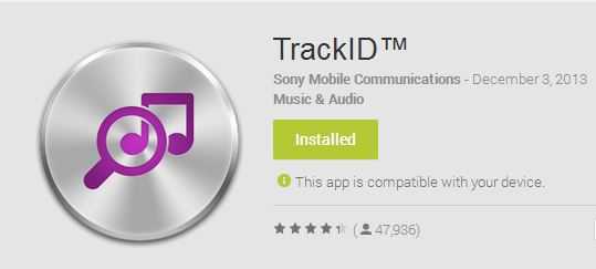 sony with trackid app