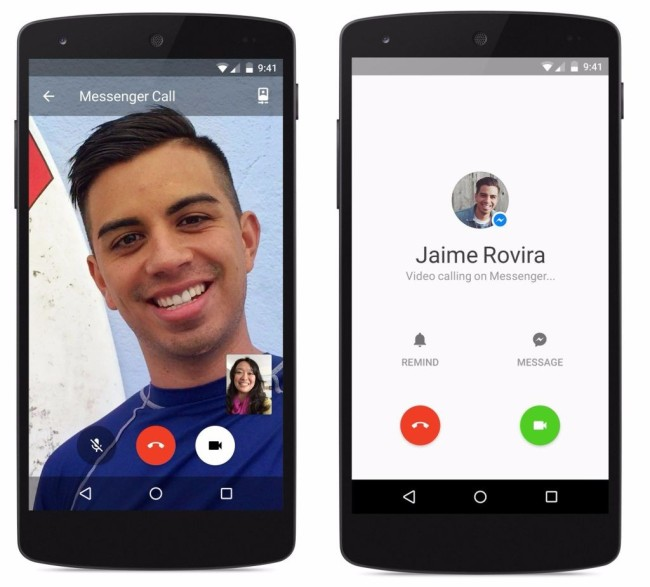 facebook video calling option