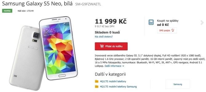 Buy Galaxy S5 Neo in Czech Republic