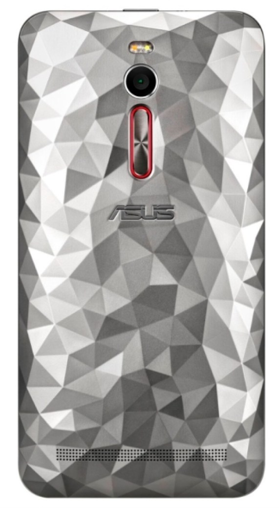 Asus Zenfone 2 in crystal-inspired Drift Silver color