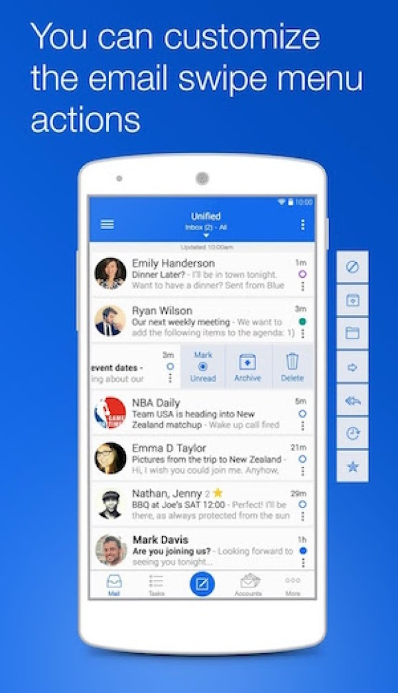 Best free email apps for Android Devices email Type Mail