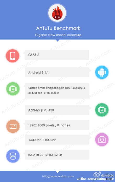 Gigaset ME GS55-6 specifications