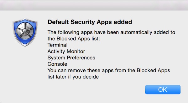 Password Protect Individial apps on OS X