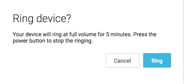 RIng Misplaced silent Android Phone easily