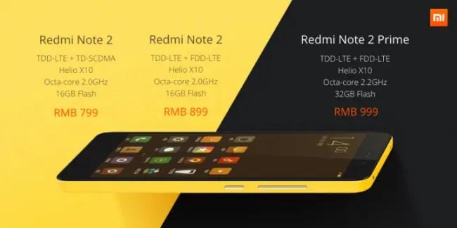 Redmi Note 2 Prices