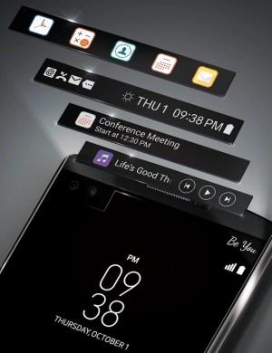 LG V10 Secondary Screen usage