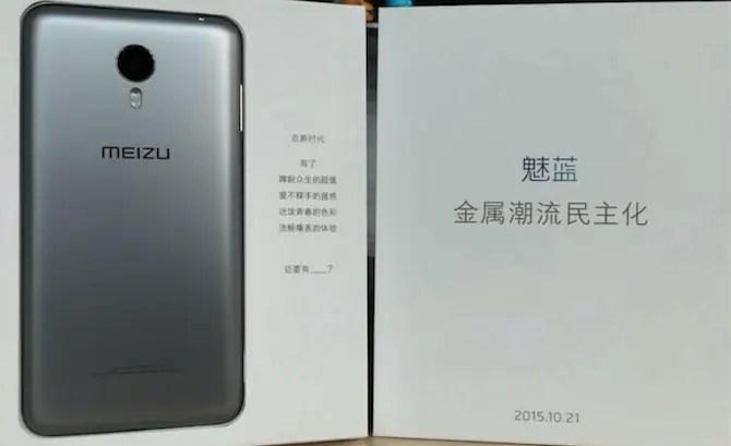 Meizu New Phone exposure