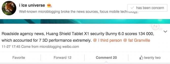 Nvidia Shield Tablet X1 benchmark score