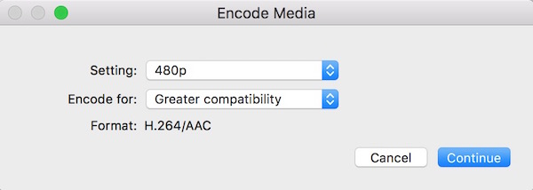 Reduce the video pixel on mac