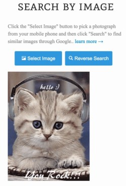 Reverse Image Search from Mobile and tablet
