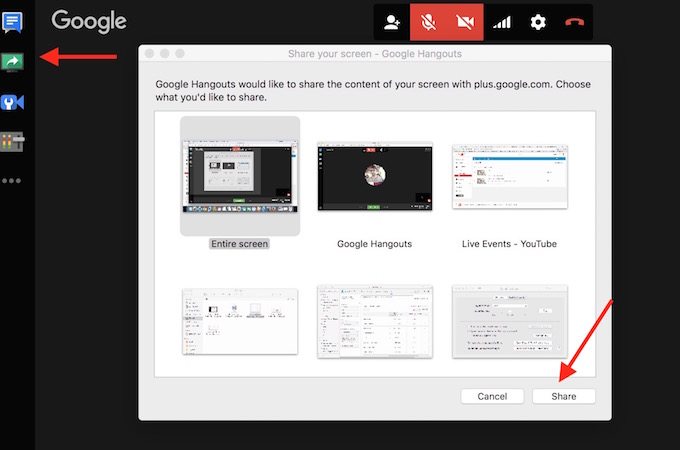 YouTube Screen Recording options