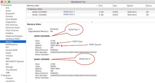 Check RAM detail on Mac