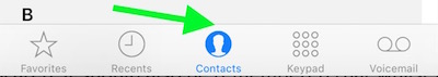 Select contacts