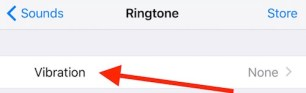 Vibration Settings on iPhone