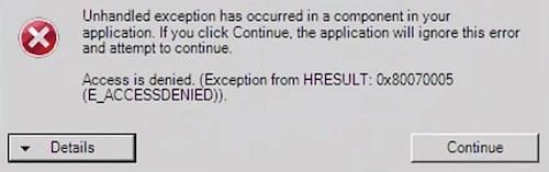 How to Fix Windows Update Error code 0x80070005 : Solved