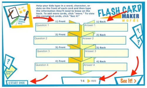 Adding information to Flash Card