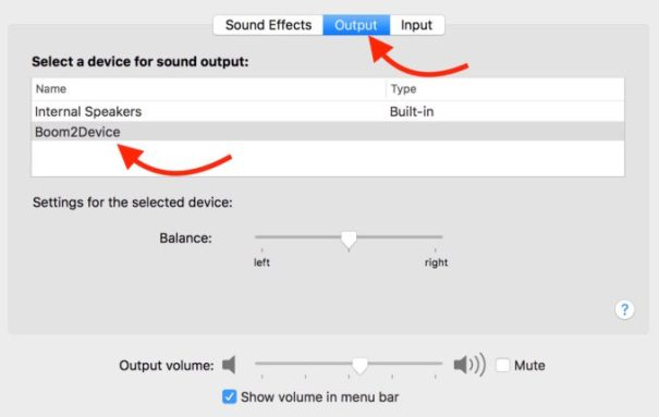 Mac's Output Audio