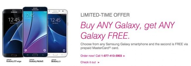 Buy one get one galaxy Free