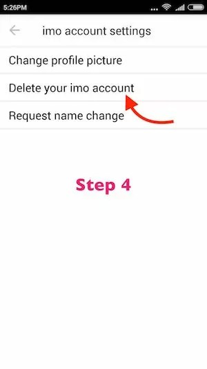 How do I delete or deactivate my imo account or profile