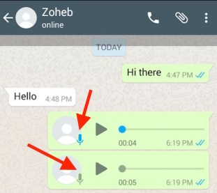 WhatsApp Plus Blue MicroPhone