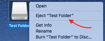 Eject disk on mac