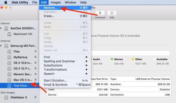 mac dmg file to bootable usb