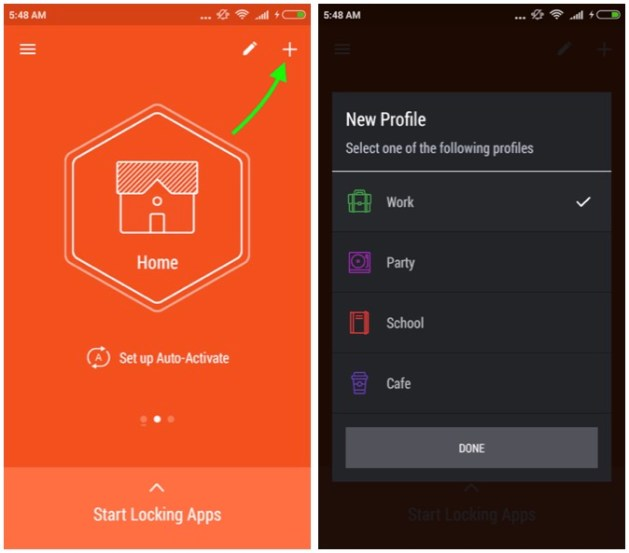 Add Profile to HexLock lock App
