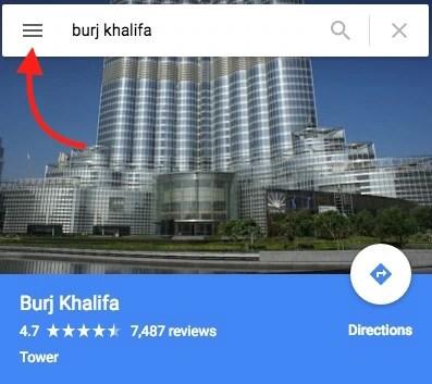 Burj Khalifa on Google Map