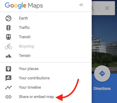 Embed Google Map