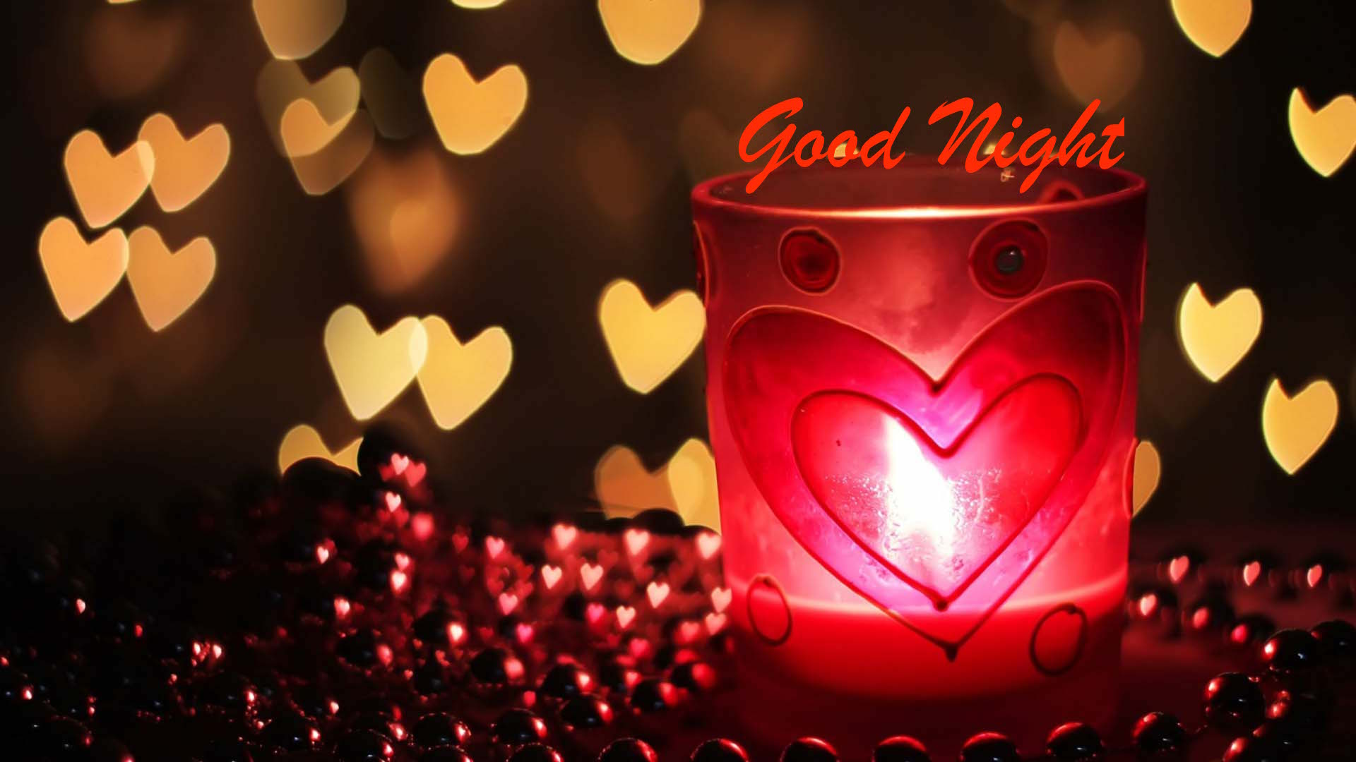 Good night heart red image