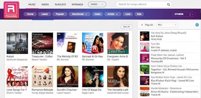 Raaga Stream Hindi Music