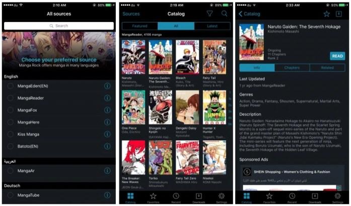 Rock Manga App