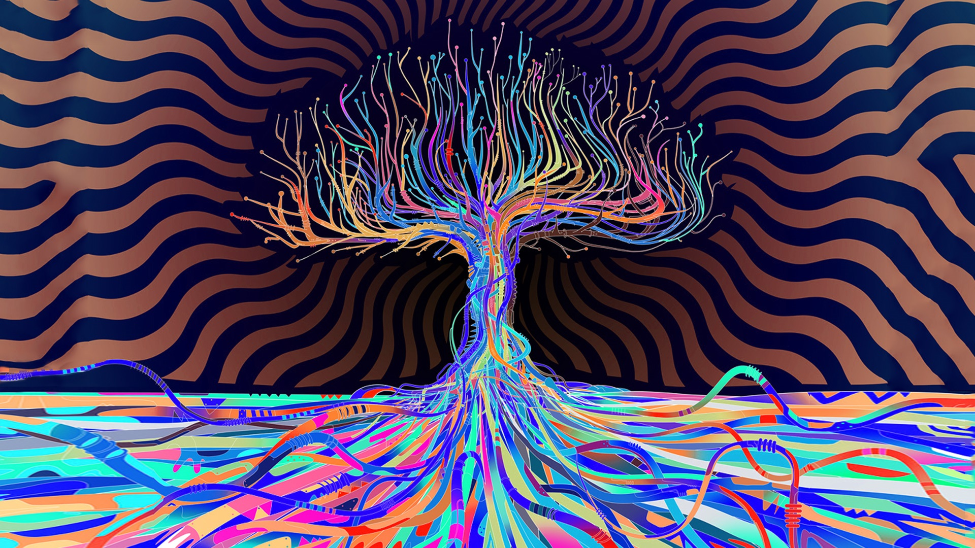 Trippy Background tree effect