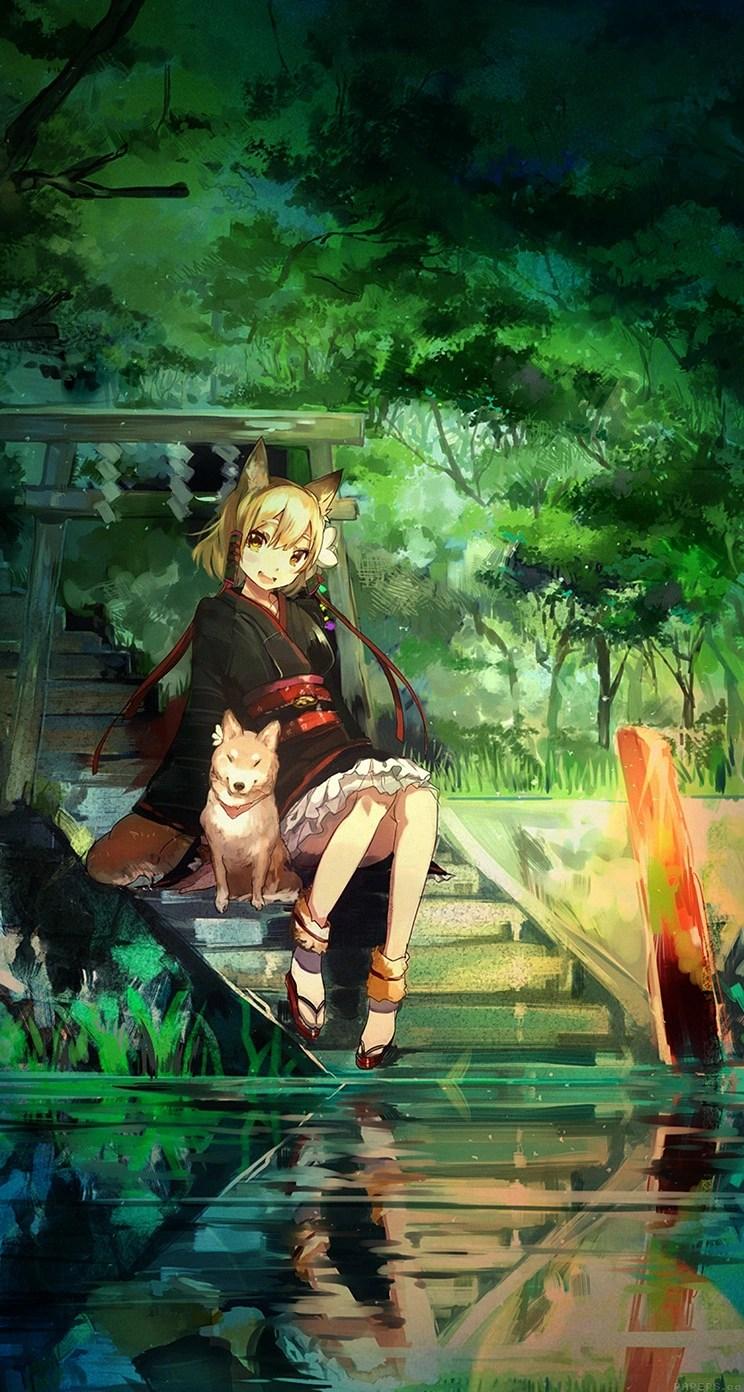 anime girl paint dog whatsapp chat theme