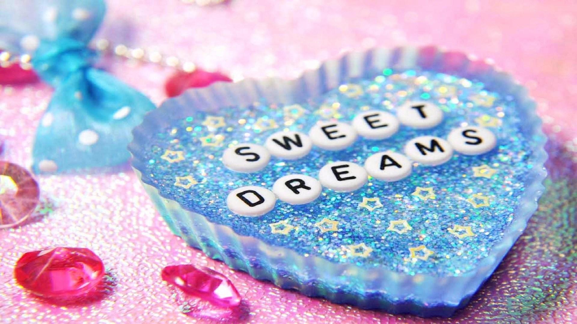 good night heart pink sweed dreams image