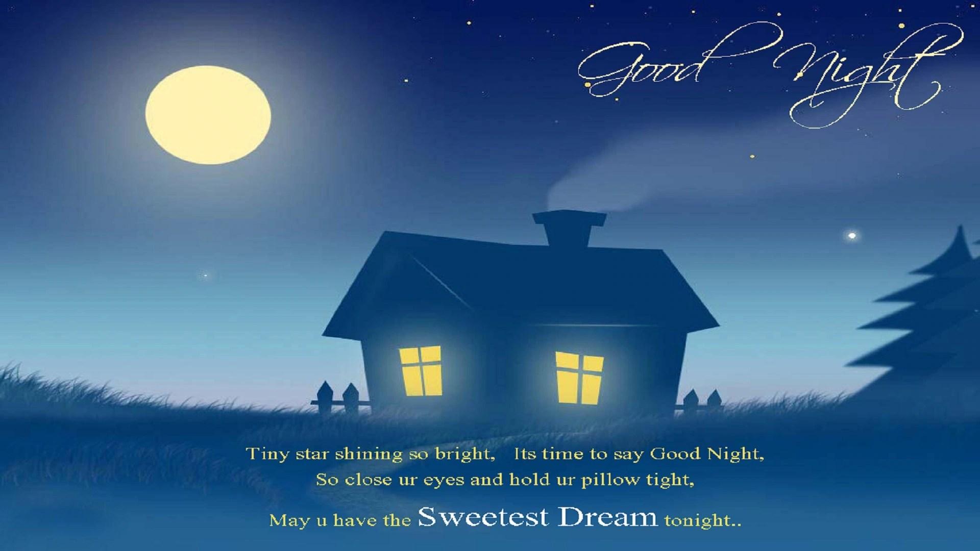 good night sweet dreams moon image
