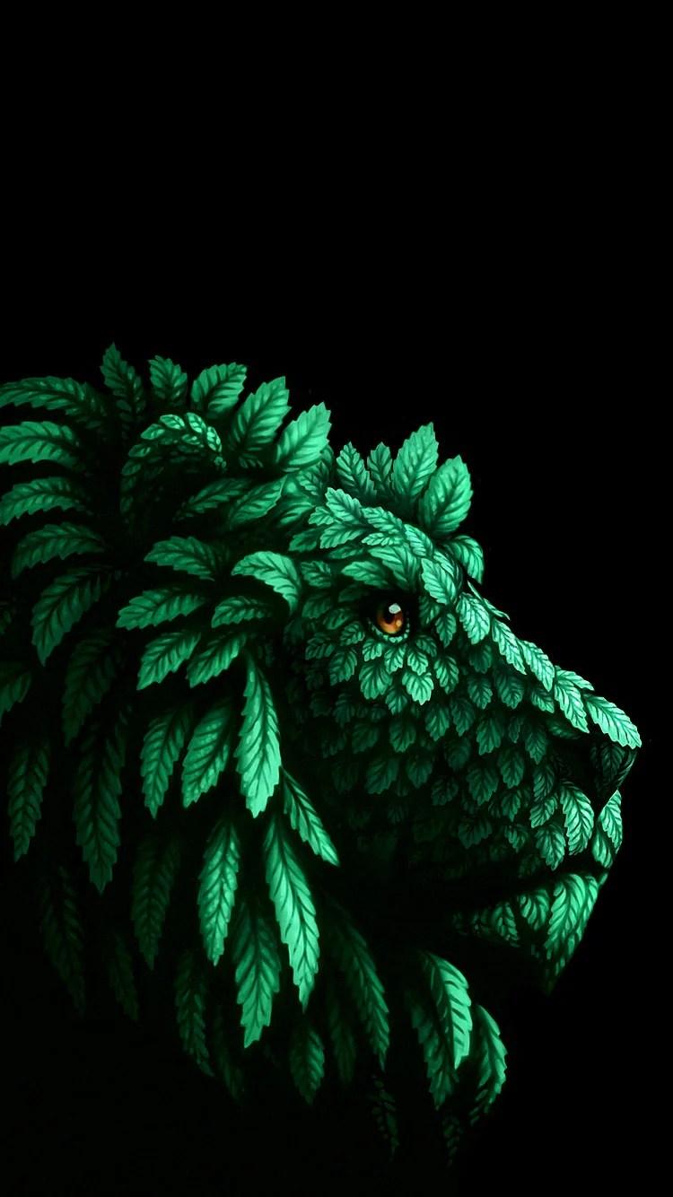 iPhone 6s 3D lion wallpaper