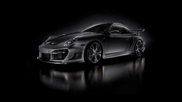 3D Black background car