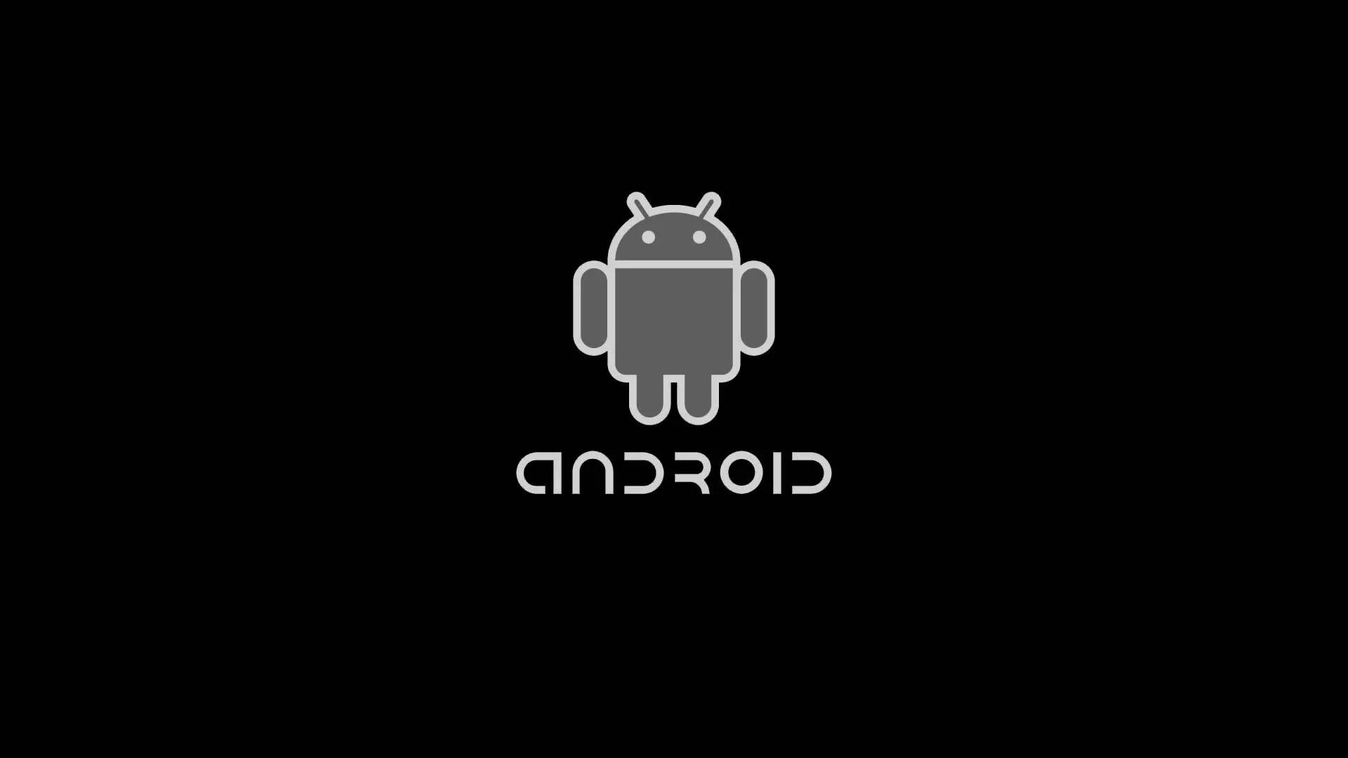 Android logo Black Wallpaper