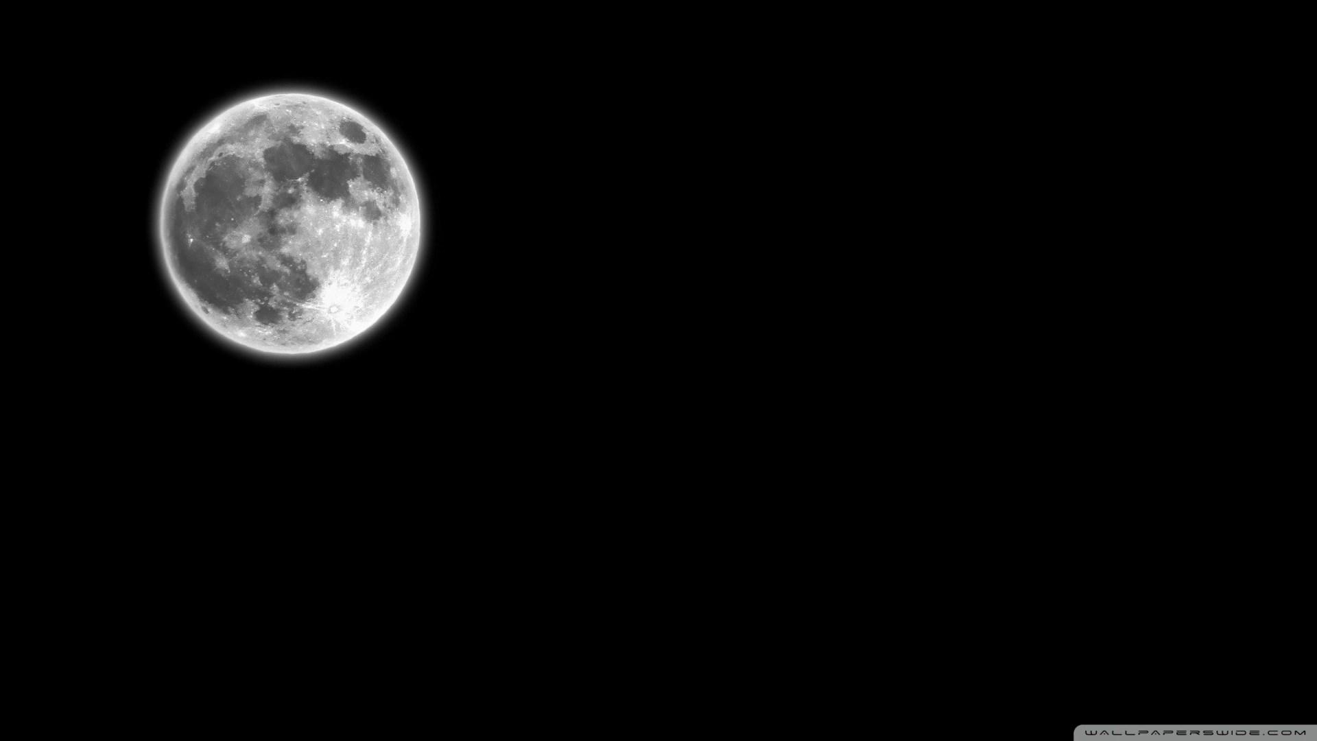 Black background moon