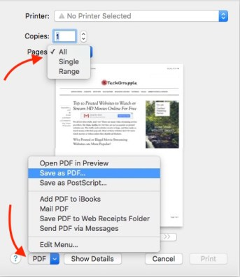 Convert HTML Webpage to PDF on Safari