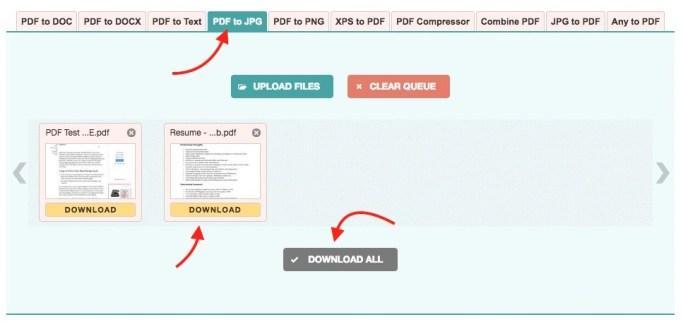 PDF to JPG Online Converted