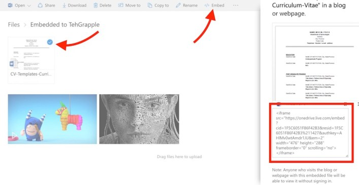 embed-docs-and-videos-from-onedrive
