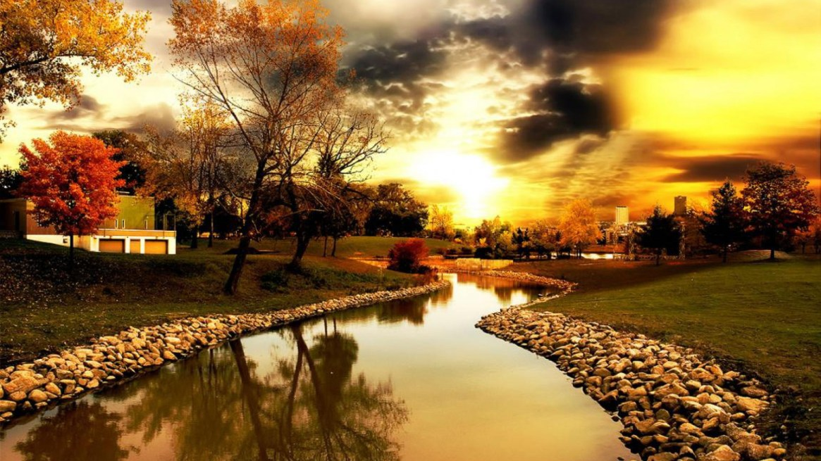 autumn-background-canal