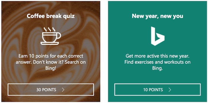 Bing Rewards Offer