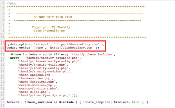 Editing Function Php file